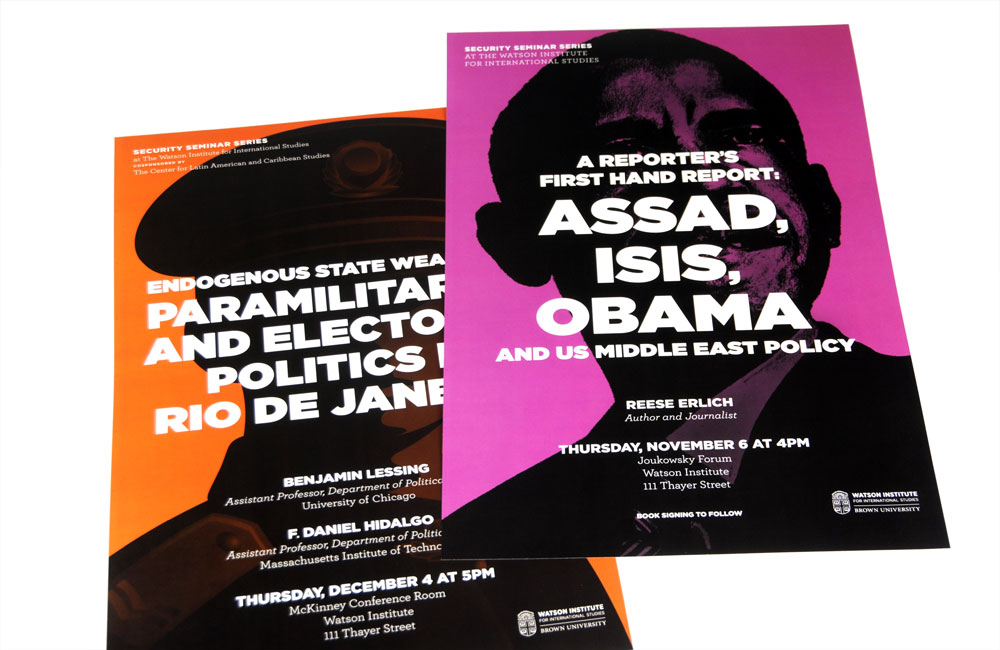 Brown University Watson Institute Assad Isis Obama Poster