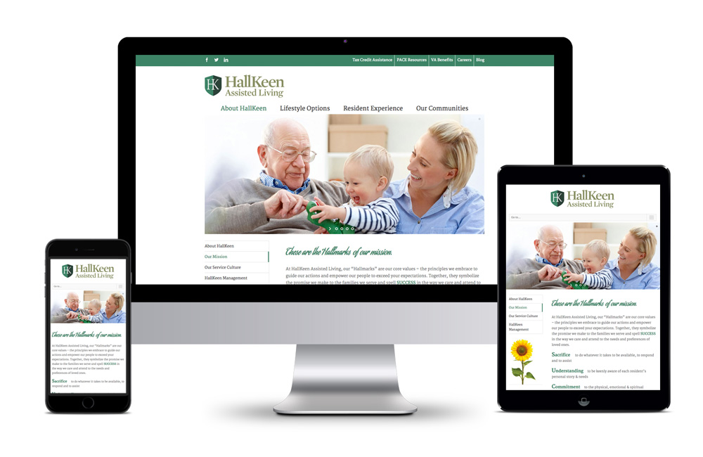 HallKeen Assisted Living Website