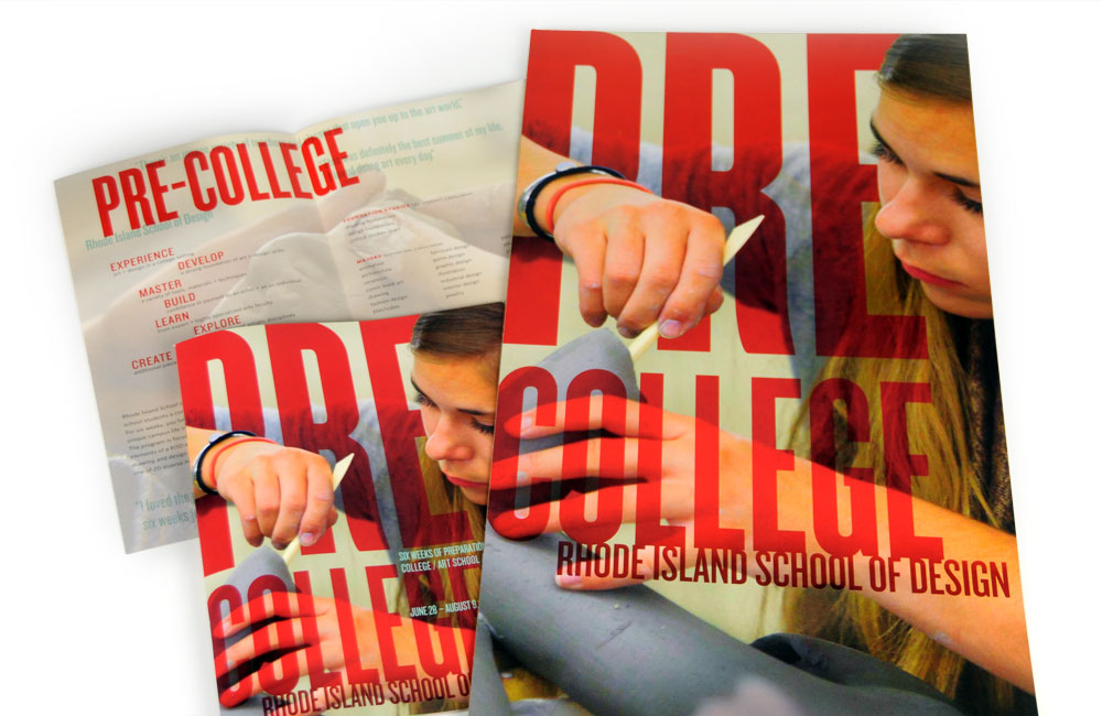 Rhode Island School of Design Continuing Education (RISD CE) Pre-College program brochure, mailer, poster