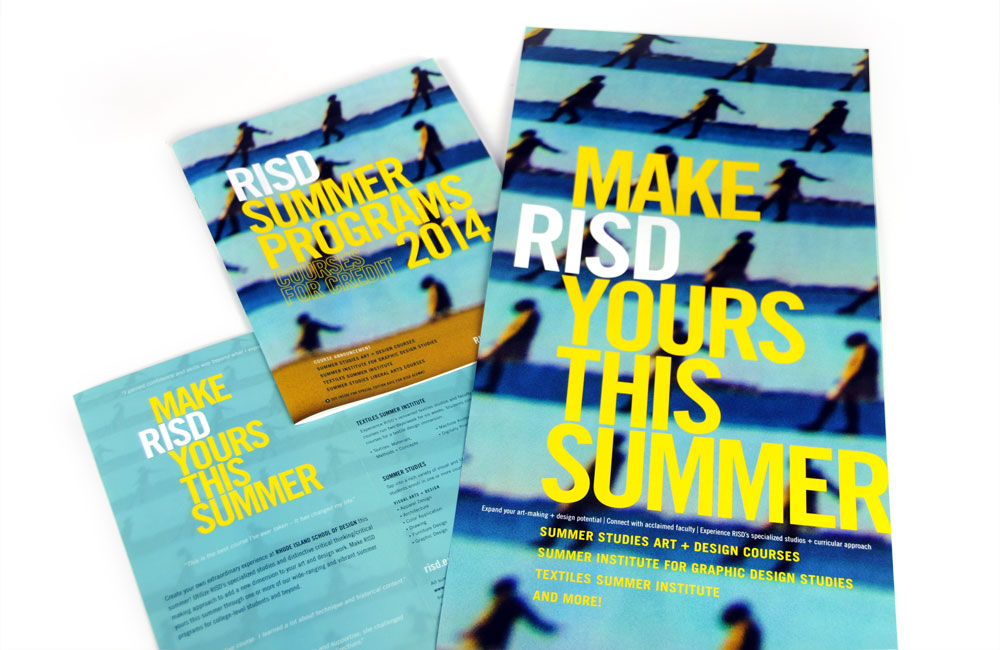 Rhode Island School of Design Continuing Education (RISD CE) Summer Studies Program brochure, poster, mailer