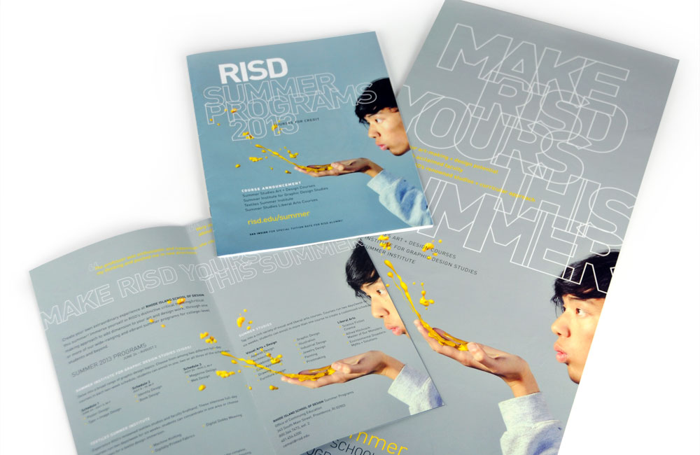 Rhode Island School of Design Continuing Education (RISD CE) Summer studies brochure, poster, mailer, course catalog