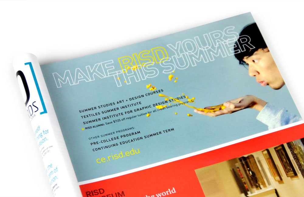 Rhode Island School of Design Continuing Education (RISD CE) Summer Studies ad in RISD XYZ magazine