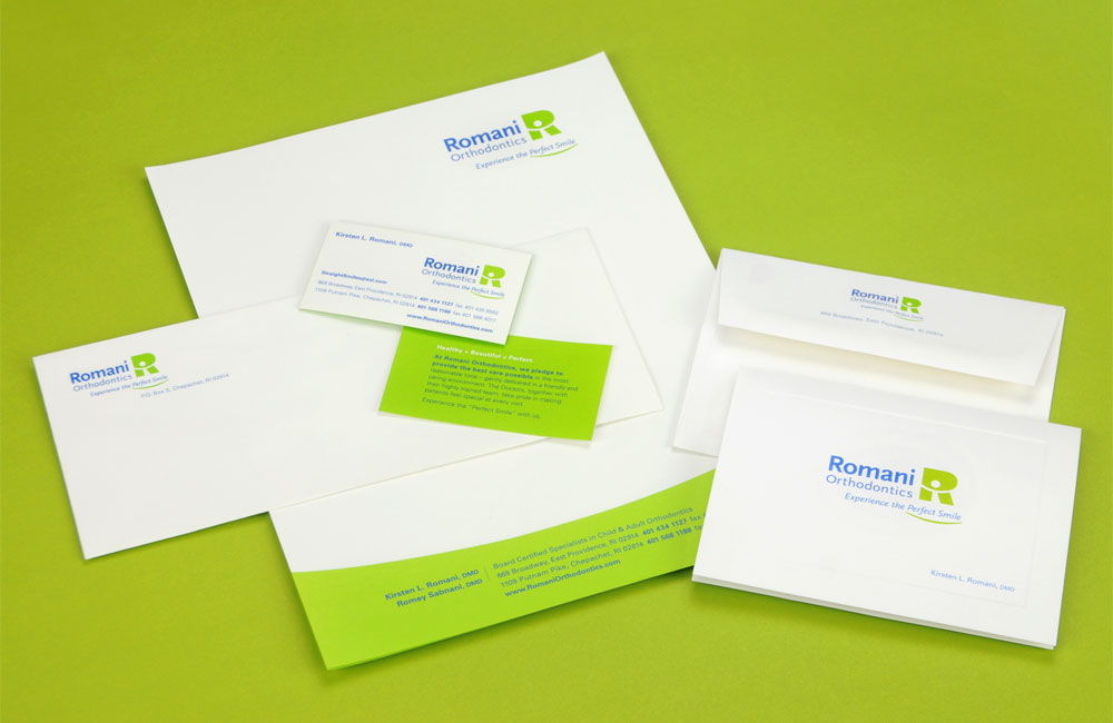 Romani Orthodontics Stationery Business Cards Letterhead