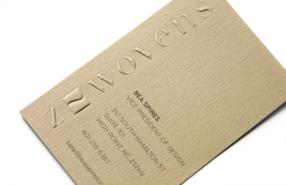 Z-Wovens Business Card for Bea Spires Vice President of Design