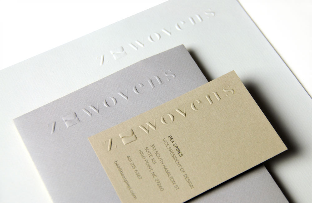 Z-Wovens Embossed Stationery System
