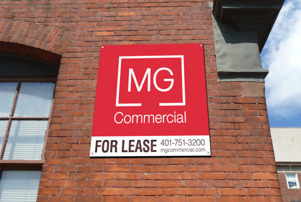 MG Commercial Real Estate for Lease Signage
