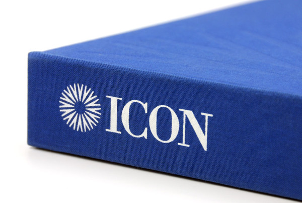 ICON International Binder with screen printed logo and debossed logo
